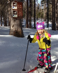Hazel skiing at MacDonald Pass. Photo provided by Will Snider